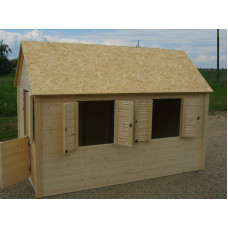 Dětský dřevěný domek - MAXI 120 x 240 x 170 cm