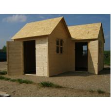 Dětský dřevěný domek Dvojdomek 240x280x140x v.185
