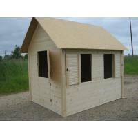 Dětský dřevěný domek Komfort 140x180x185 cm