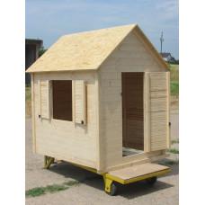 Dětský domek dřevěný Standard 120x140x170 cm