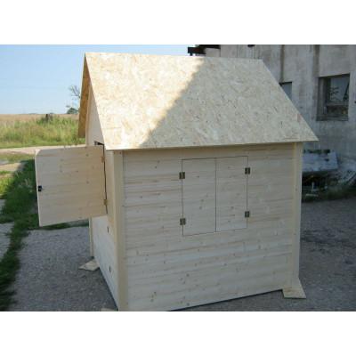 Dětský dřevěný domek Klasik 140x140x180 cm